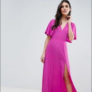 ASOS Open Side Kimono Sleeve Maxi Dress